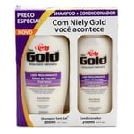 Kit Niely Gold Liso Prolongado shampoo com 300mL + condicionador com 200mL