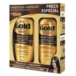 Kit Niely Gold Hidratação Chocolate Shampoo 300mL + Condicionador 200mL