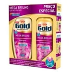 Kit Niely Gold Mega Brilho Shampoo, 200mL + Condicionador, 200mL