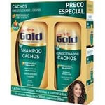 Kit Niely Gold Cachos Shampoo, 300mL + Condicionador, 200mL