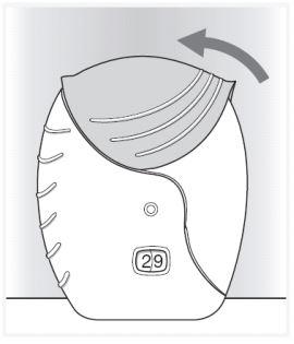 Ilustração para fechar o inalador do Anoro Ellipta