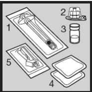 Ilustração para preparação de aplicação do Humira ampola