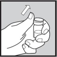 Ilustração para abrir a ampola de Humira