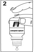 Ilustração para posicionar o Hytós Puls gotas na vertical