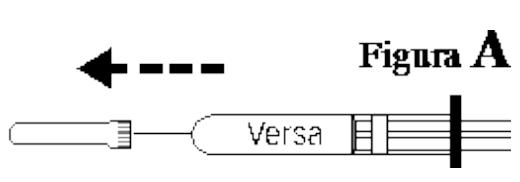 Ilustração para retirar a capa protetora da agula do Versa Injetável