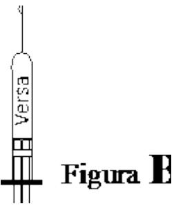 Ilustração para manuseio correto da agulha do Versa Injetável