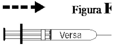 Ilustração para injeção lenta do medicamento Versa
