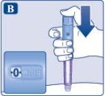 Ilustração para aplicação do Saxenda passo 2