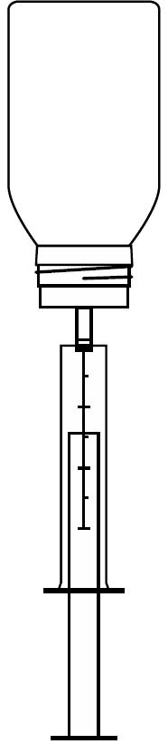 Ilustração para retirar o liquido do frasco de Ebastel