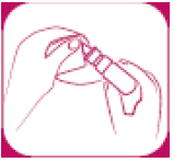 Ilustração para Limpar o aplicador e recoloque a tampa.
