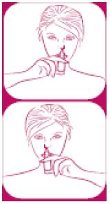 Ilustração para introduzir o Busonid no nariz