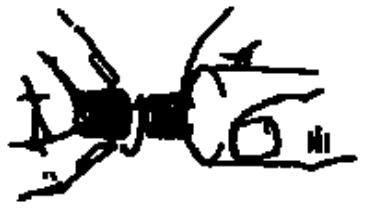 Ilustração para Retirar a tampa da bisnaga