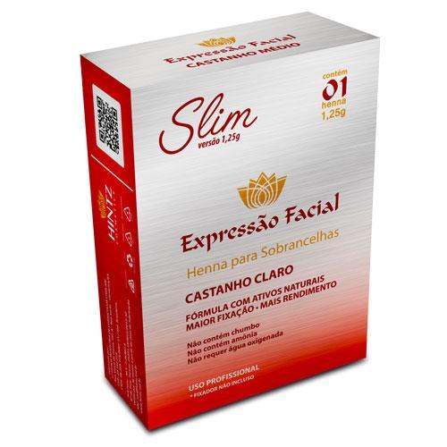 Henna para Sobrancelha Expressão Facial Slim
