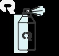 Aerolin 100mcg/dose, caixa com 1 lata aerosol com 200 doses com aplicador