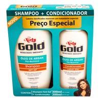 Kit Shampoo + Condicionador Niely Gold Óleo de Argan