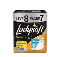Absorvente Ladysoft Noturno Cobertura Seca