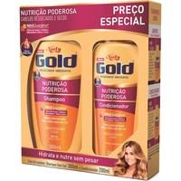Kit Shampoo e Condicionador Niely Gold Nutrição Poderosa