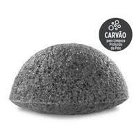 Esponja de Limpeza Kiss NY Konjac Carvão