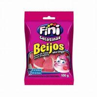 Bala Fini Beijo de Morango