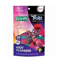 Fio Dental GUM Kids Flossers Trolls
