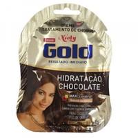 Creme Niely Gold Tratamento de Choque Hidratação Chocolate