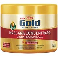 Máscara Concentrada Niely Gold Queratina Reparação