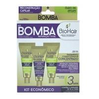 Kit Ampola de Tratamento BioHair Bomba Reparação Total