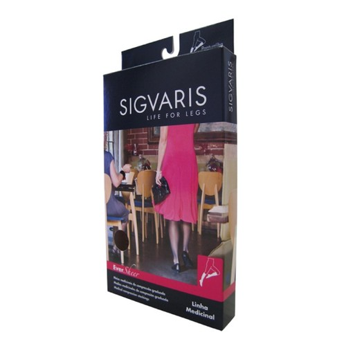 0471430d3 Compre Meia 3 4 Sigvaris Ever Sheer 20-30mmHg P Normal (P2 ...