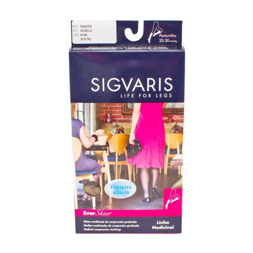 ee78a6e9e Compre Meia 3 4 Sigvaris Ever Sheer 20-30mmHg M Normal (M2 ...