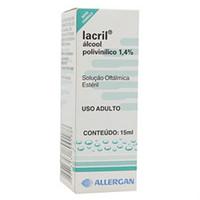Lacril 14mg/mL, caixa com 1 frasco gotejador com 15mL de solução de uso oftálmico
