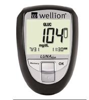 Medidor de Colesterol e Glicose Wellion Luna Duo 1 unidade, preto