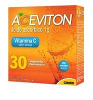 Aceviton laranja, 1g, caixa com 30 comprimidos efervescente