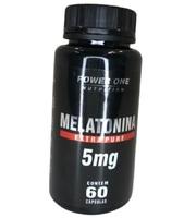 Melatonina Power One 5mg, frasco com 60 cápsulas