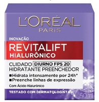 Hidratante Facial L'Oréal Revitalift Hialurônico Diurno FPS 20, 50mL