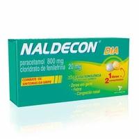 Naldecon Dia 800mg + 20mg, caixa com 24 comprimidos