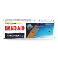 Curativos Band-Aid transparente com 10 unidades