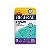 Fralda Geriátrica Bigfral Confort XG, pacote com 7 unidades
