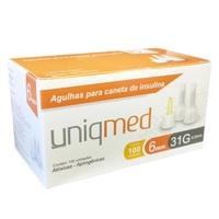 Agulha para Caneta de Insulina Uniqmed 31G, 6mm com 100 unidades