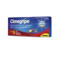 Cimegripe 400mg + 4mg + 4mg, caixa com 10 cápsulas gelatinosas duras