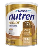 Suplemento Alimentar Nutren Senior café com leite, lata, 1 unidade com 370g