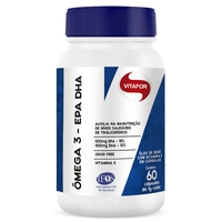 Ômega 3 EPA DHA Vitafor frasco com 60 cápsulas