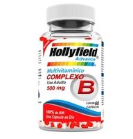 Complexo B Hollyfield Advance 500mg, 3 frascos com 60 cápsulas cada