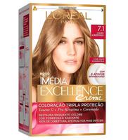 Tintura L'Oréal Imédia Excellence Creme n° 7.1 louro acinzentado