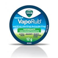 Vick Vaporub 28,2mg/g + 52,6mg/g + 13,3mg/g, caixa com 1 pote com 12g de unguento