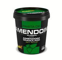 Pasta de Amendoim Integral Sem Açúcar Mandubim Amendoim Granulado, 450g