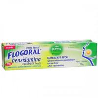 Flogoral 5mg/g, caixa contendo 1 bisnaga com 70g de creme dental