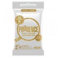 Preservativo Prudence Cores e Sabores celebration com 3 unidades