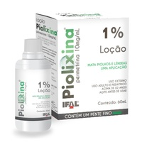 Piolixina 10mg/mL, caixa com 1 frasco com 60mL de loção de uso dermatológico
