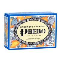 Sabonete Cremoso Phebo Mediterrâneo limão siciliano, barra com 100g