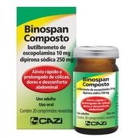 Binospan Composto 250mg + 10mg, caixa com 20 comprimidos revestidos